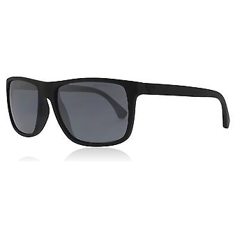 Emporio Armani EA4033 56496Q Black Rubber EA4033 Square Sunglasses Lens Category 3 Size 56mm