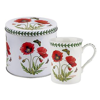 Portmeirion Botanic Garden Poppy Mug and Tin Set