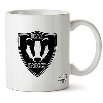 Hippowarehouse Team Badger Printed Mug Cup Ceramic 10oz