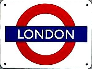''LONDON'' London Underground roundel small enamel sign  (ba)
