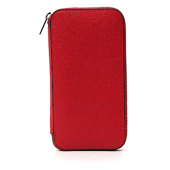 Valextra Red Leather Wallet