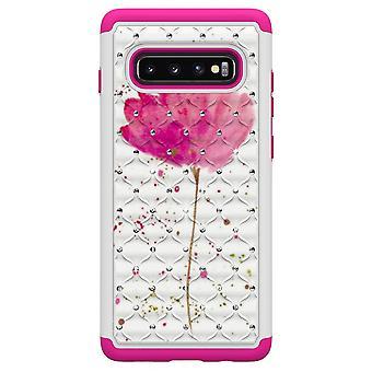 S10 de Samsung Galaxy + TPU Shell armadura Extra Durable-rosa flor