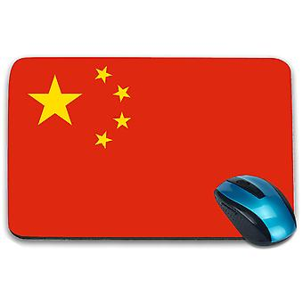 i-Tronixs - China Flag Printed Design Non-Slip Rectangular Mouse Mat for Office / Home / Gaming - 0036