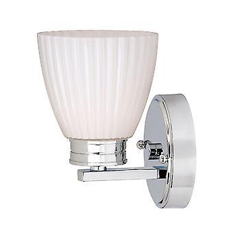 Stead-1 Light Bathroom Wall Light Polished Chrome IP44-BATH/WL1