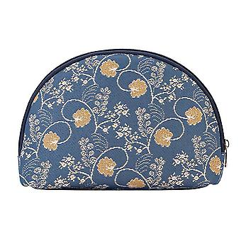 Jane austen blue big cosmetic bag by signare tapestry / bgcos-aust