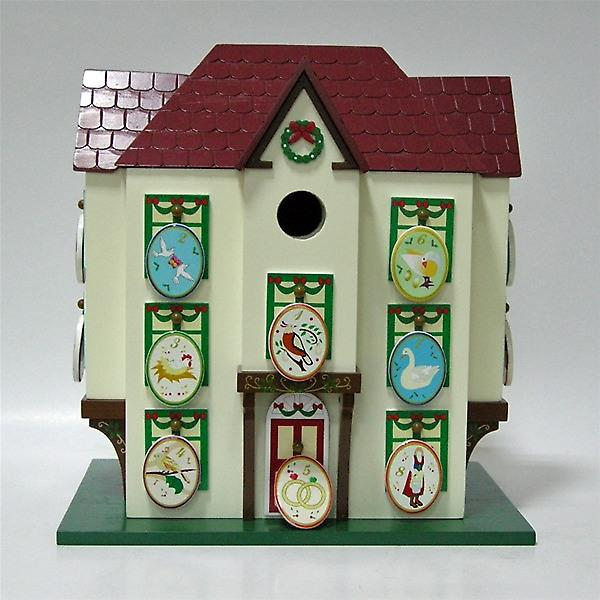 12 Days of Christmas Advent Calendar Decorative Bird House