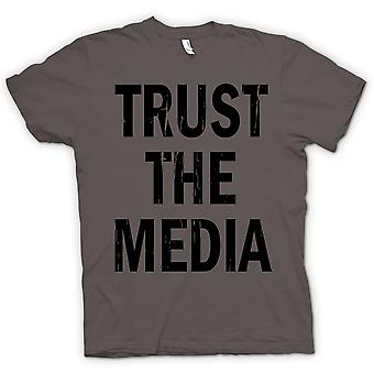 Herre T-shirt - Trust Media - sjovt