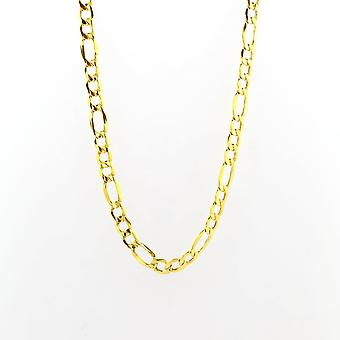 Eternity 9ct Gold 18'' Large 3 + 1 Figaro Chain