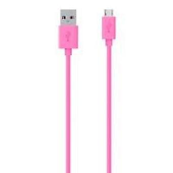 Belkin Pink 2m Samsung Tablet Android Micro USB to USB Tangle ChargeSync Cable F2CU012T2M-PNK