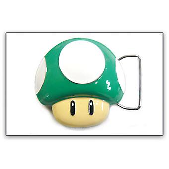 Cintura Buckle - Nintendo - Nuovo Super Mario Green Fungo 1up bb132817ntn