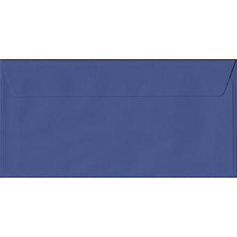 Iris Blue Peel/Seal DL Coloured Blue Envelopes. 100gsm FSC Sustainable Paper. 110mm x 220mm. Wallet Style Envelope.