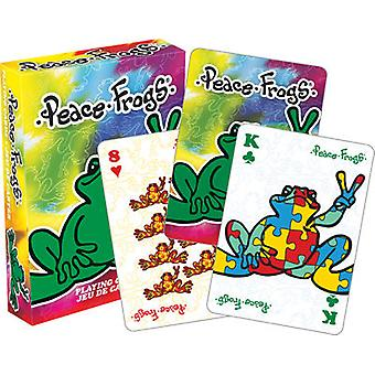Playing Cards - Peace Frogs - Poker Games New Licensed 52410