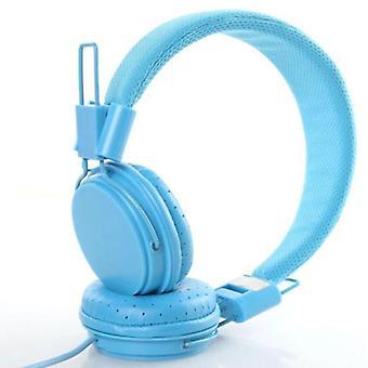 Barn kabelanslutna öronsnäckor snygg pannband hörlurar (inget paket)