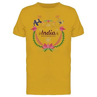 India Independence Elephant Tee Men's -Image by Shutterstock