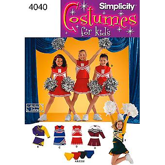 Simplicity Child And Girls Cheerleader C 2 4 6 U04040aa