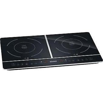 Twin induction hob with pot size recognition, Timer fuction Severin 1031