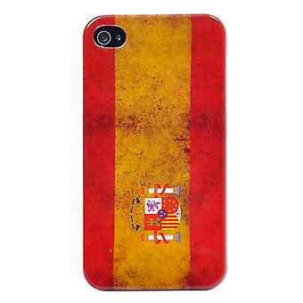 Handyhülle für IPhone 4/4 s-Spanien Flagge retro