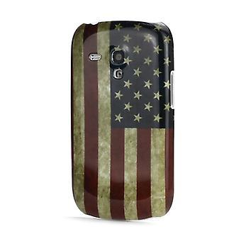 Cubierta de plástico de USOS de la bandera PC para Galaxy S3 mini i8190