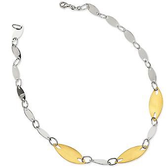 Sterling Silver and 18K Yellow Gold-plated Fancy Necklace