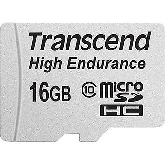 microSDHC card 16 GB Transcend High Endurance Class 10 incl. SD adapter