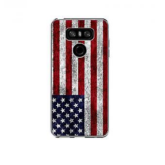 The cover Uses grunge flag for LG G6