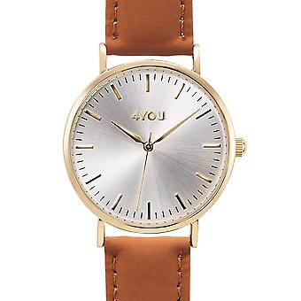 4YOU Herre ur wrist watch analog quartz syntetisk læder 250001009
