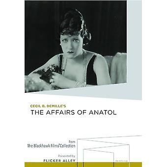Zaken van Anatol [DVD] USA importeren