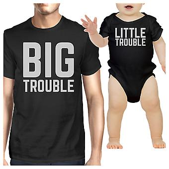 Big Trouble Little Trouble Black Funny Fathers Day Gift For New Dad