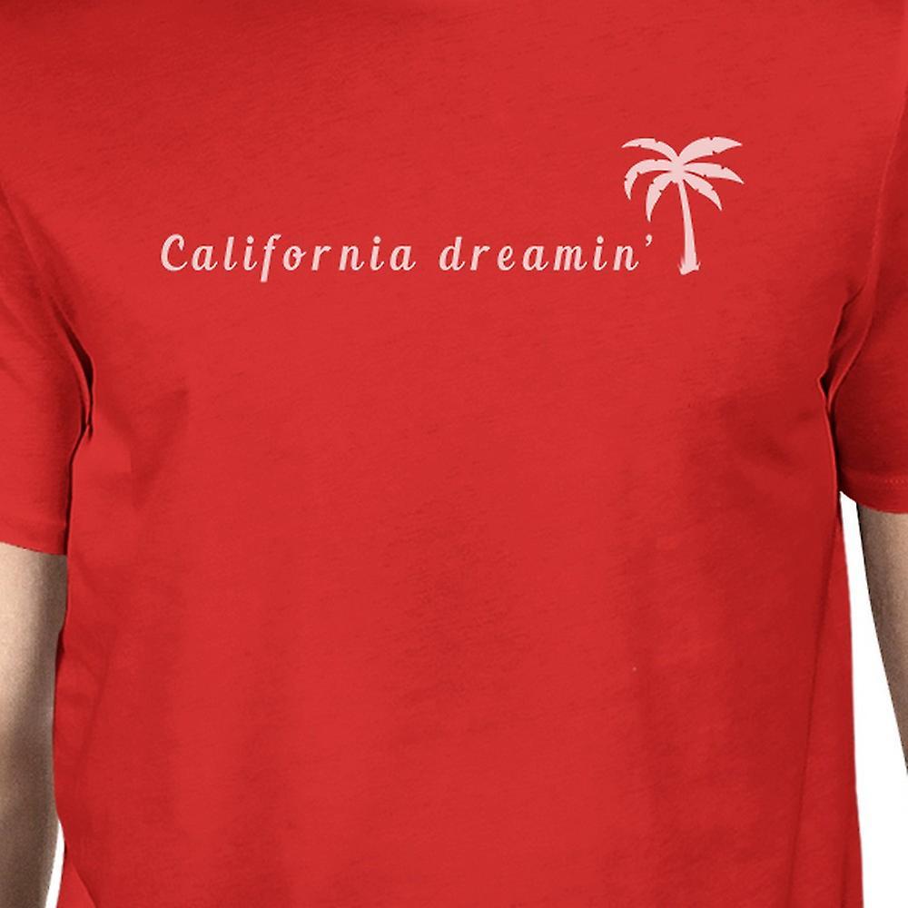 California Dreaming Mens röda mössan Crew Neck sommar T-Shirt
