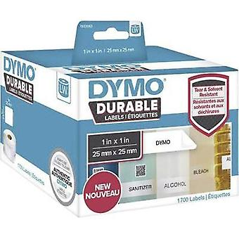 DYMO Labels (roll) 25 x 25 mm PE film White 1700 p