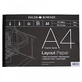 Daler Rowney Layout gegomd Pad A4