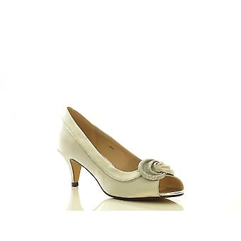Lunar Ladies Court Shoe FLR222 Silver