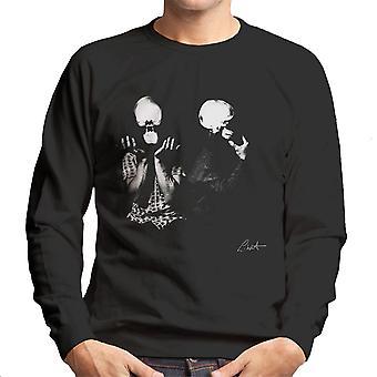 Orbital Skull X Ray leder menn Sweatshirt