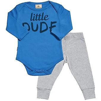 Spoilt Rotten Little Dude Babygrow & Jersey Trousers Outfit Set