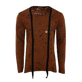 Tazzio fashion Emimay shirt men's sweat-shirt Brown fringe