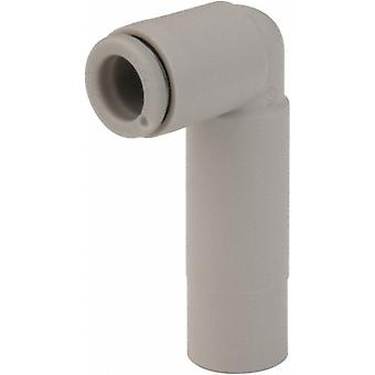 Smc Pneumatic Elbow Tube-To-Tube Adapter, Push In Connection A 6Mm, B 10Mm