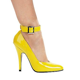 Ellie Shoes IS-E-8221 5 Heel Pump With Ankle Strap Colors Yellow &