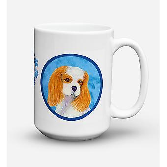 Cavalier Spaniel  Dishwasher Safe Microwavable Ceramic Coffee Mug 15 ounce SS480