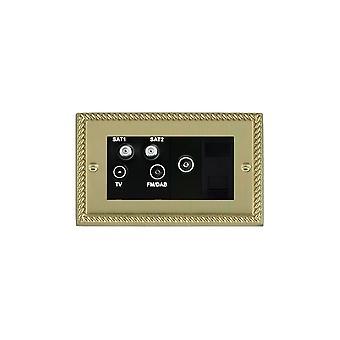 Hamilton Litestat Cheriton Georgian Polished Brass TV+FM+2XSAT+TVF+TCS BL