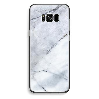 Samsung Galaxy S8 Transparent Case - Marble white