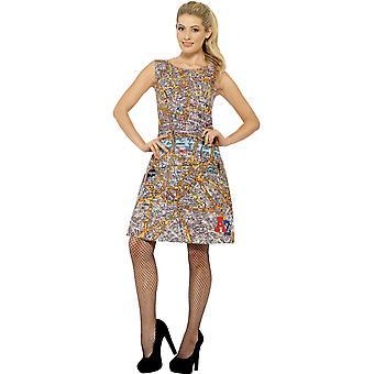 Women costumes  City map dress with street plan