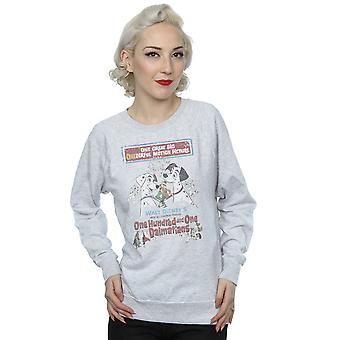 Disney Women's 101 Dalmatians Retro Poster Sweatshirt