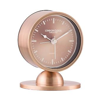 London Clock 1922 10cm Urban Luxe Glimmer Spun Copper Finish Mantel Clock