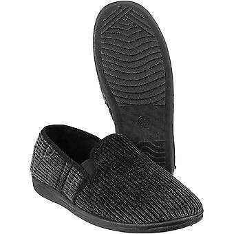 Mirak Mens Richard Elasticated Twin Gusset Textile Lined Slippers