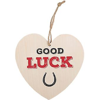 Something Different Good Luck Hanging Heart Sign