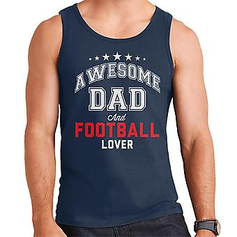 Awesome Dad And Football Lover Men's Vest