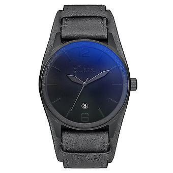 s.Oliver mannen horloge horloge lederen SO-3149-LQ