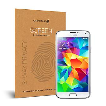 Celicious Privacy 2-Way Anti-Spy Filter Screen Protector Film Compatible with Samsung Galaxy S5