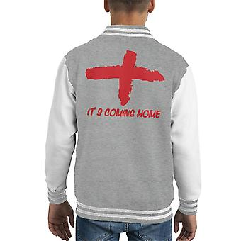 Rough Flag England World Cup Its Coming Home Kid's Varsity Jacket