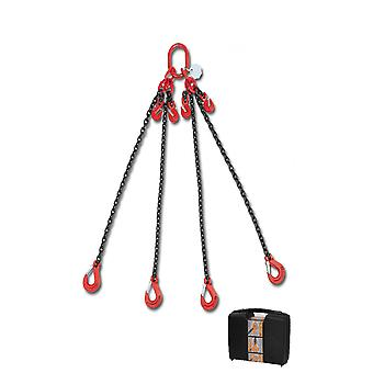 8098/3 C6A Beta Chain Sling 4 Legs And Grab Hook In Plastic Case 6mm 3 Mt